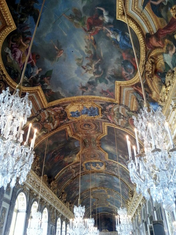 Ceiling of the Hall of Mirrors at Versailles