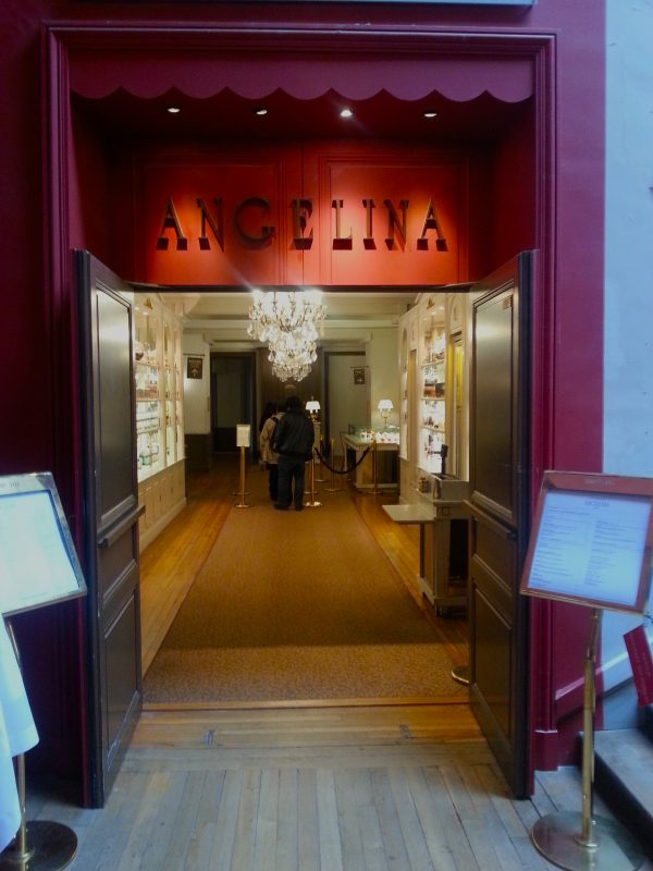 The Angelina entrance in mid-afternoon after the lunch rush.