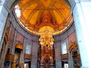 Interior of the Clerigos chapel.