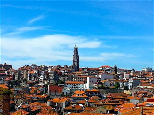 The Torre dos Clergies literally towers over the city centre.