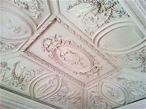 Stucco work ceiling in the Palacio do Freixo.