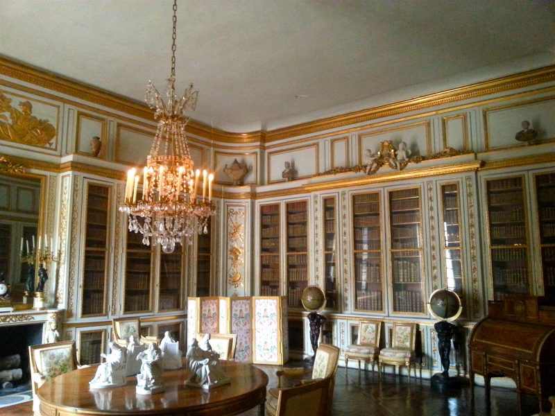 Louis XVI's library, the only room of his grandfather's that he completely changed.