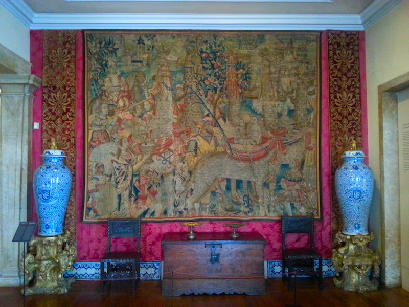 A 16C Franco-Flemish tapestry depicting exotic animals brought to Europe by the Portuguese.