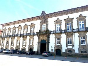 The facade of the archbishop's palace attributed to Nasoni.