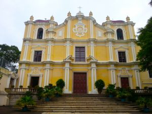 The facade of St. Joseph's Church in Macau.