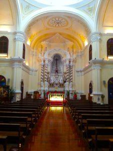Interior of St. Joseph's Church in Macau.