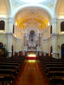 Interior of St. Joseph's Church in Macau.