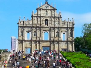 The world-famous ruined facade of St. Paul's, the iconic sight of Macau.