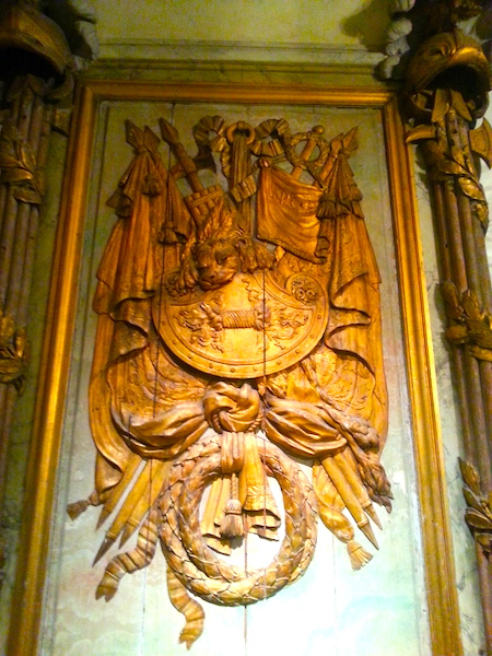 A trophy panel from the Cafe Militaire representing one of the 4 elements.
