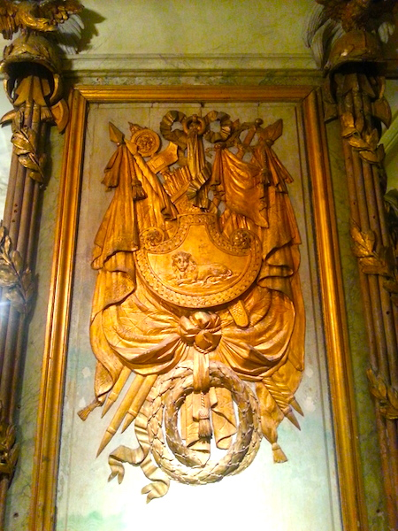 Another carved trophy panel from the Cafe Militaire.