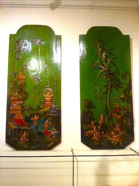 The first two of 4 chinoiserie panels: Air and Earth.