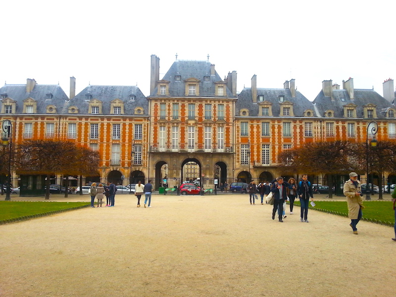 The Place des Vosges, formerly the Place Royale.