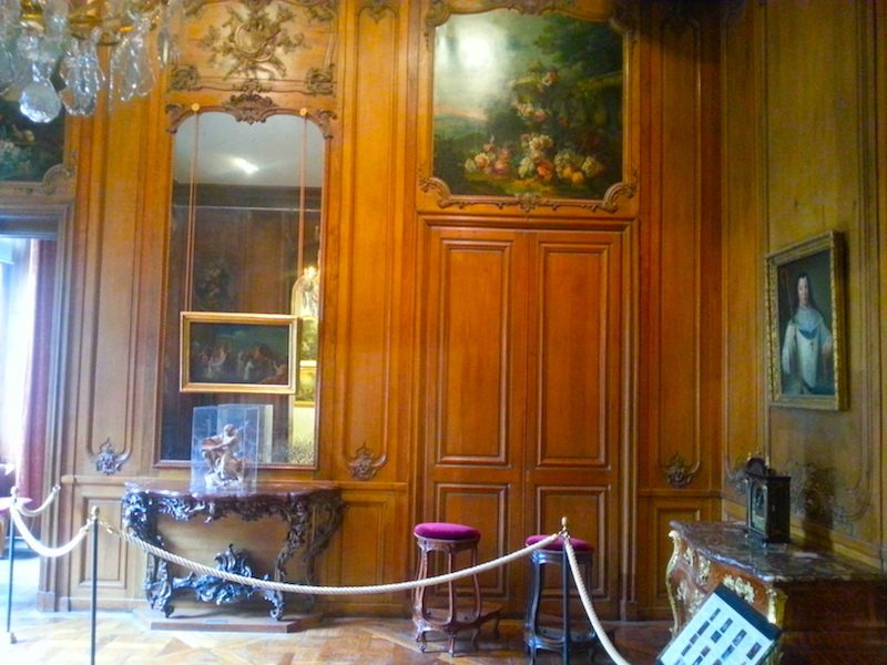 A wood-paneled salon in the Carnavalet Museum.