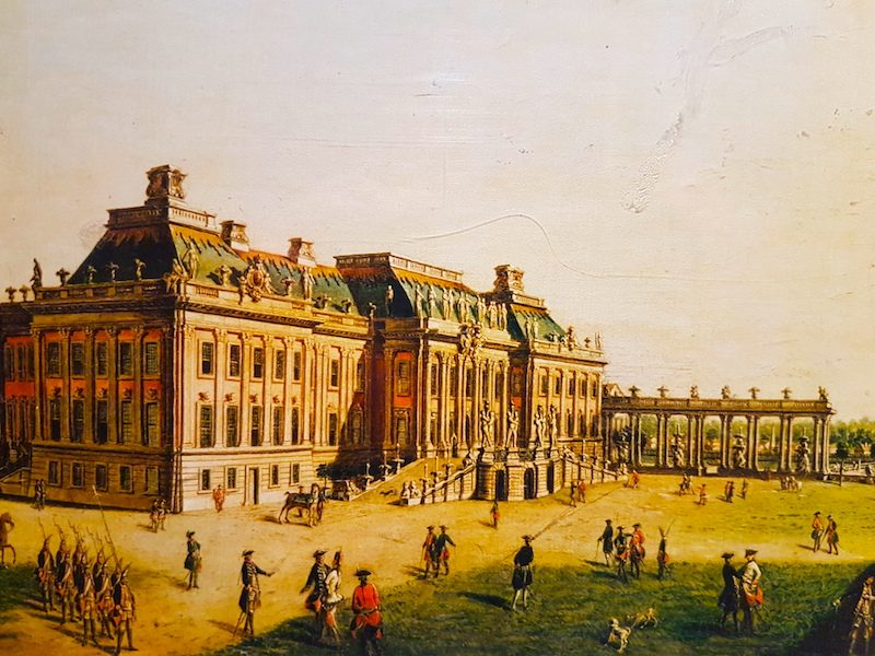 The Potsdam City Palace,  as it appeared in Frederick's time.  It was knocked down by the East German authorities after WWII.