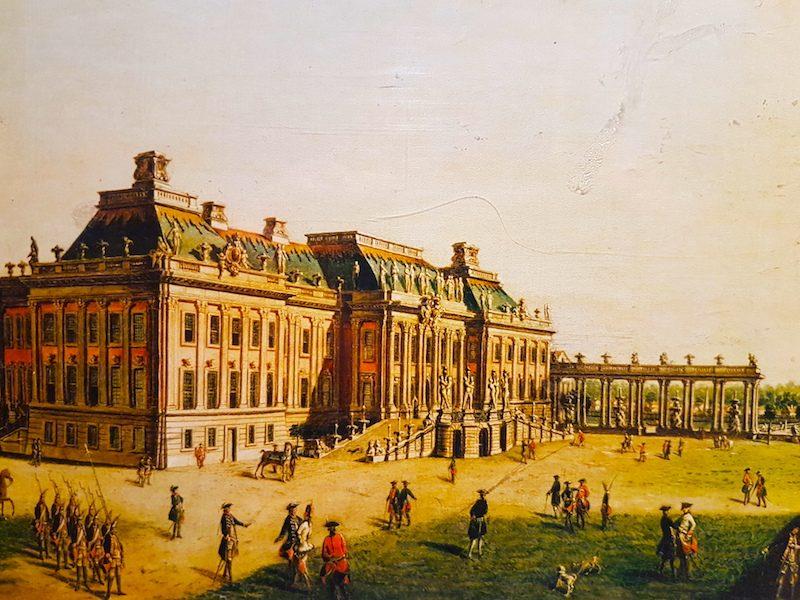 Garden facade of the Potsdam City Palace by Meyer, circa 1773. On display at the Royal Ontario Museum, Toronto.