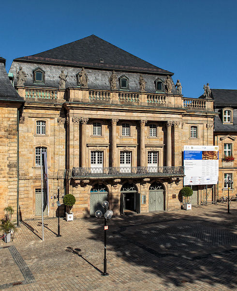 The Margravial Opera House in Bayreuth, built between 1744 and 1748.
