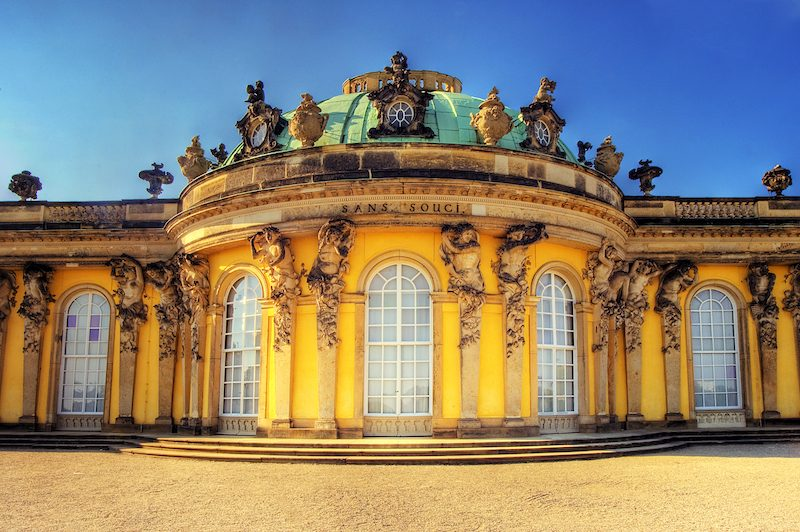 Sans Souci Palace. For most of his reign, Frederick the Great lived here in summer and at the Potsdam City Palace in winter.