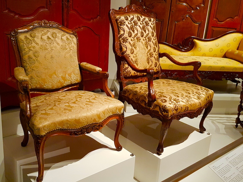 Two handsome fauteuils from New France in the ROM.