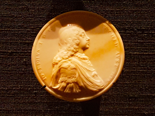 The Emperor Joseph in his youth. This miniature portrait in ivory is on display at the Art Gallery of Ontario in Toronto.