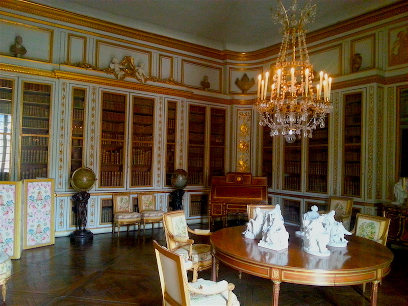 Looking into Louis XVI's library from the west door.