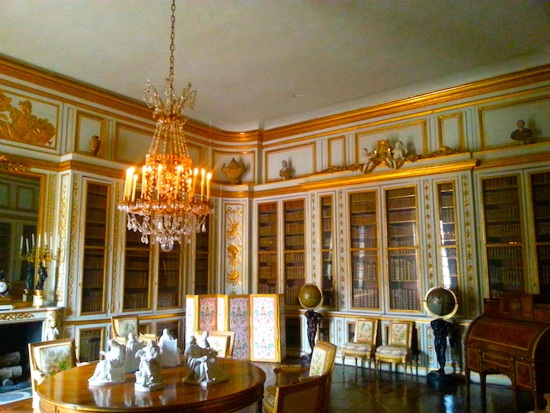 Looking into Louis XVI's library from the east door.