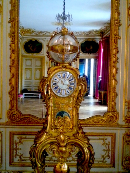 A slightly closer view of Louis XV's astronomical clock.