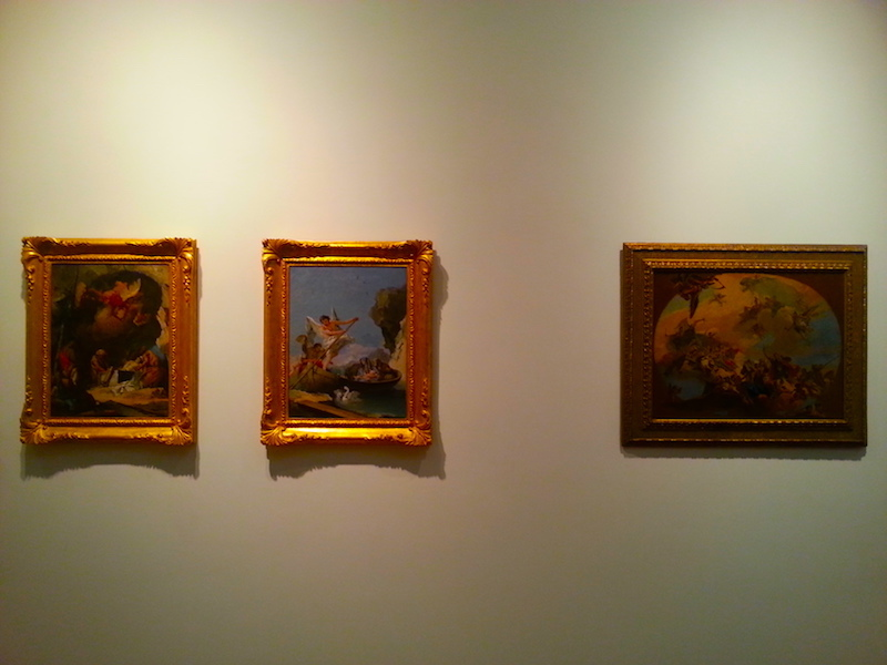 A trio of small Tiepolo works in the MNAA.