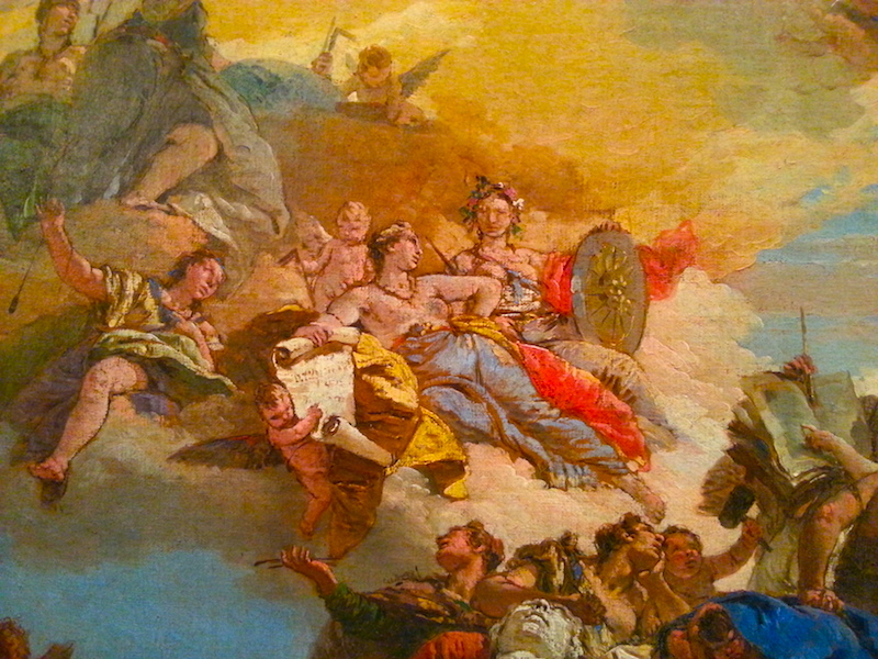 A detail of Tiepolo's Triumph of the Arts, circa 1730.