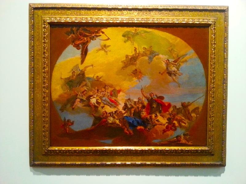Tiepolo's Triumph of the Arts, circa 1730.