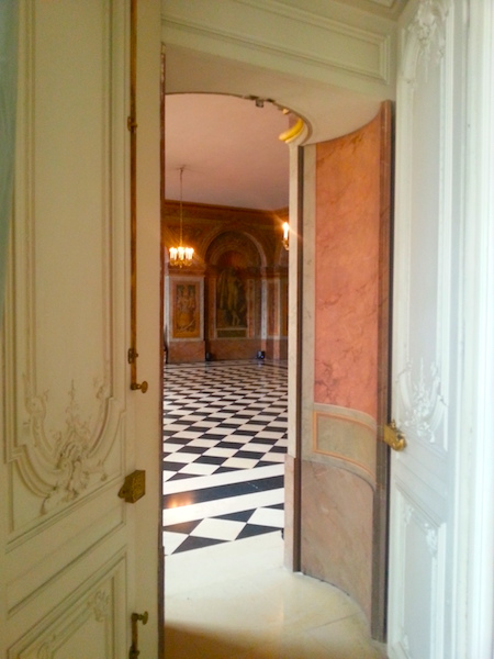 View into the Salle des Hoquetons from Mme Adélaïde's grand cabinet.