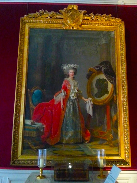 Portrait of Mme Adélaïde in 1787 by Adélaïde Labille-Guiard. It hangs in her sister's apartment at Versailles.