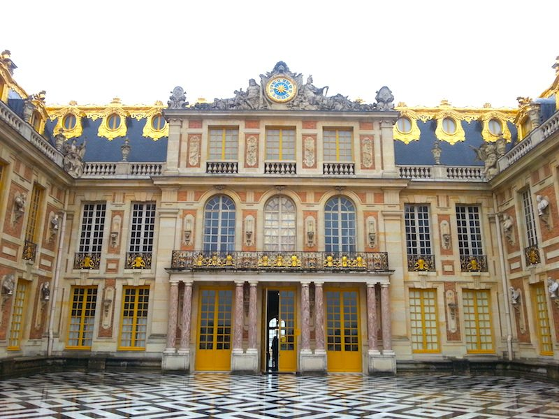 The Cour de Marbre facade of the Chateau de Versailles.