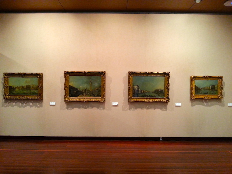 Another wall in the Guardi room at the Gulbenkian.