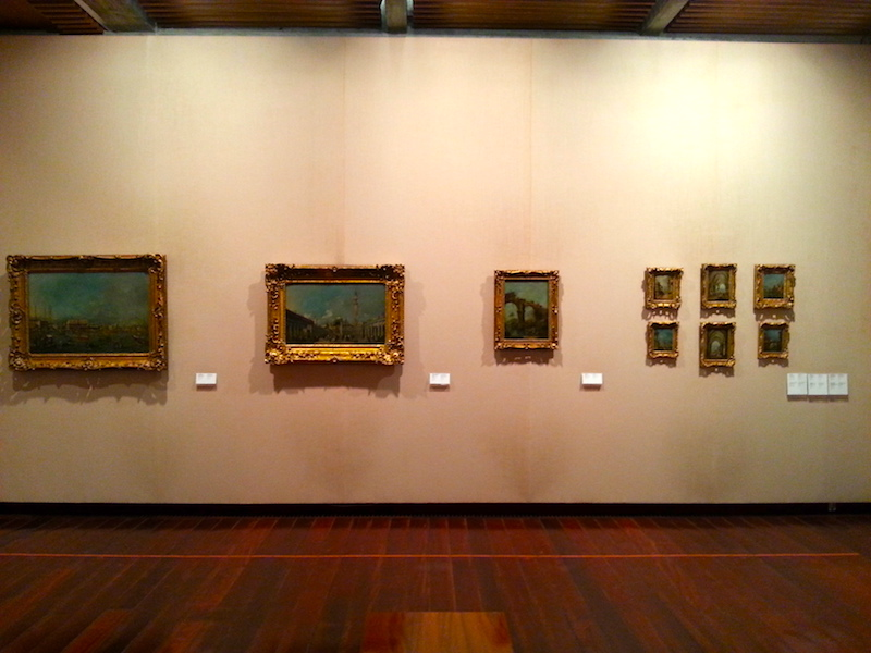 One wall in the Guardi room at the Gulbenkian.