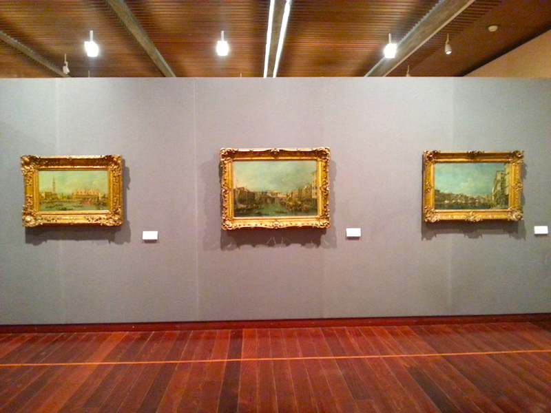 A third wall in the Guardi room at the Gulbenkian.