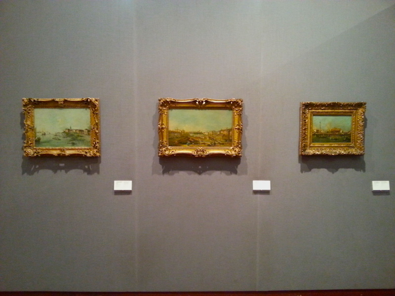 The final wall of the Guardi room in the Gulbenkian.