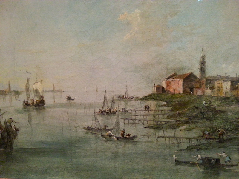 A close up view of 'The Giudecca Canal With St. Martha's Church.'