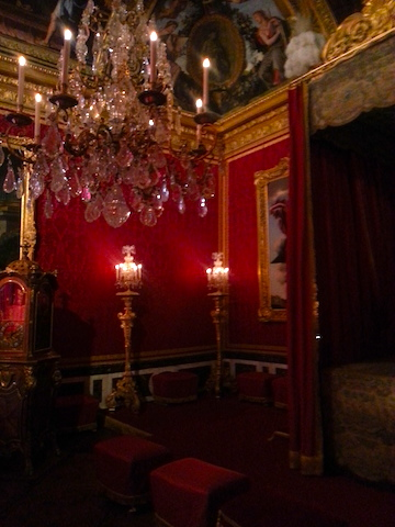 The King's state bedroom at the Chateau de Versailles.