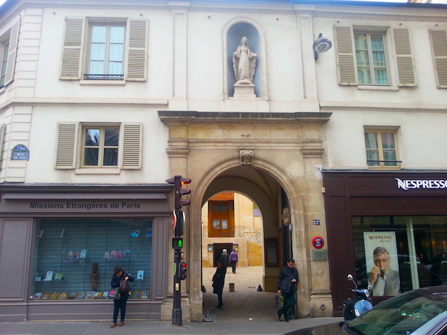 The entrance to the MEP complex at 254 Rue du Bac.