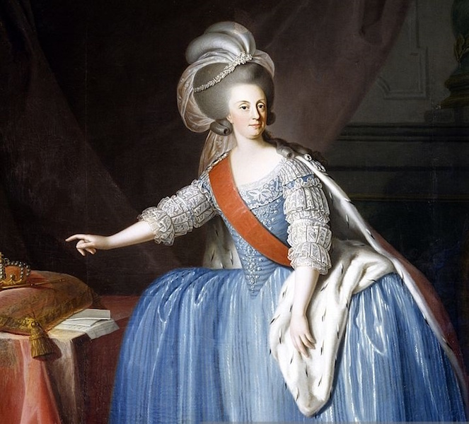 Maria I, Queen of Portugal and the Algarves, by Giuseppe Troni, 1783. Credit: Wikipedia.