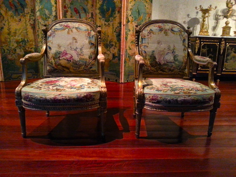 Pair of fauteuils by J.B.C. Séné in the Gulbenkian Foundation museum in Lisbon.