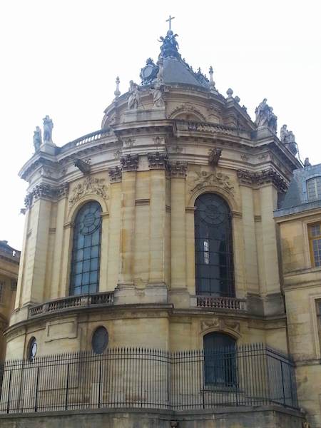 The Chapel of the Château de Versailles as seen from a street in the town.