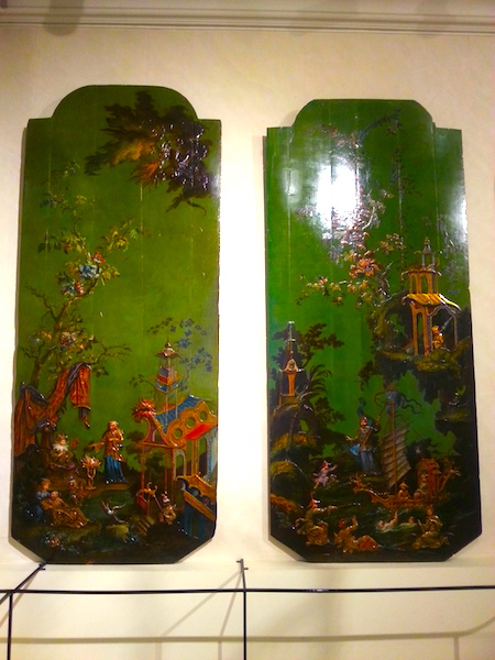 Chinoiserie panels from the 3rd Duc de Richelieu's townhouse in the Place des Vosges, now in the Carnavalet Museum.