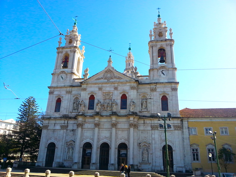 The façade of the Basilica da Estrela.