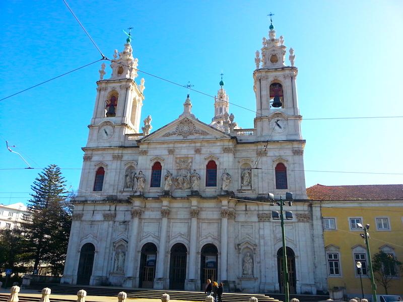 The façade of the Basilica da Estrela.
