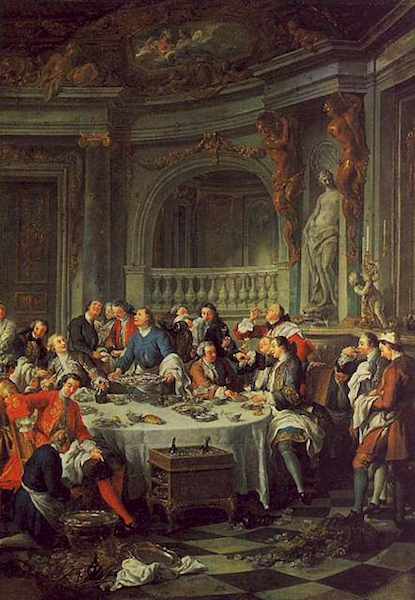 The Oyster Luncheon by Jean-François de Troy, now in the Musée de Chantilly.  Credit: WikiCommons.