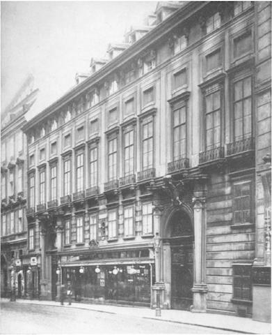 The Paar Palace in Vienna in 1907. Credit: de.Wikipedia.org.