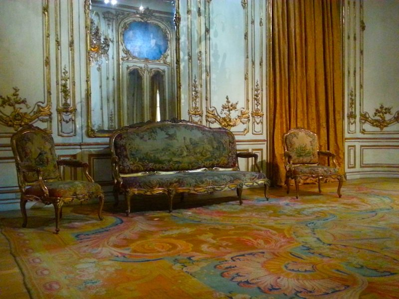 A Beauvais tapestry-covered sofa and armchairs by L.C. Carpentier, Paris, 1769.