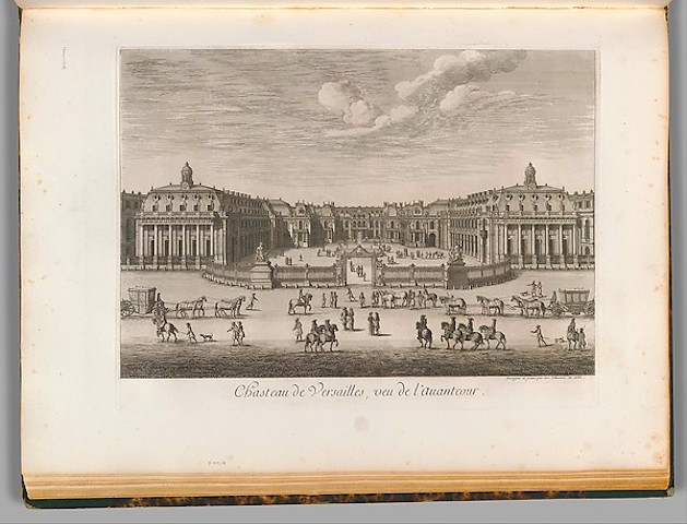 Israel Silvestre (French, Nancy 1621–1691 Paris) Château de Versailles seen from the forecourt, 1682 French, Etching; Plate: 14 15/16 x 19 13/16 in. (38 x 50.4 cm) Sheet: 19 5/16 x 26 3/8 in. (49 x 67 cm) The Metropolitan Museum of Art, New York, Harris Brisbane Dick Fund, 1930 (30.22(22.64)) http://www.metmuseum.org/Collections/search-the-collections/387888