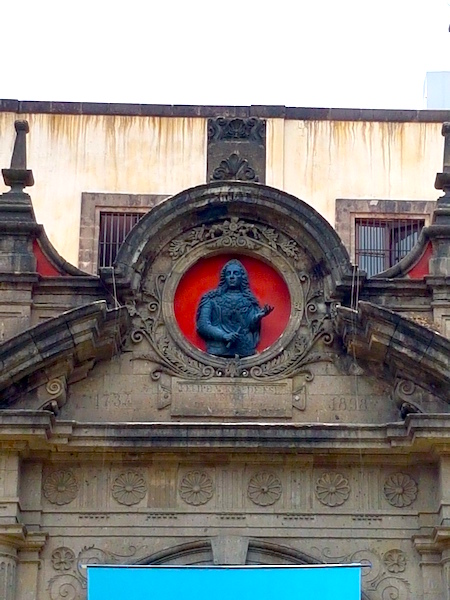 The likeness of Felipe V (r. 1700-1746) presides over a courtyard, now the National Museum of World Cultures, at the rear of the National Palace in Mexico City.